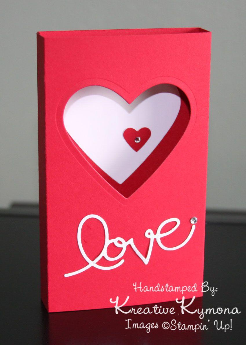 Love Card Box With Hearts Card Craft Card Box
