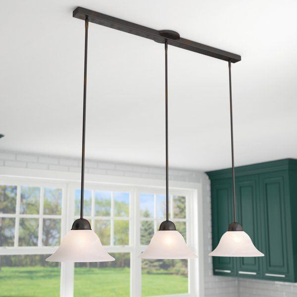 3 light kitchen island pendant modern youll love the engelbrecht 3light kitchen island pendant at wayfair great deals on all lighting products with free shipping most stuff in 2018 house ideas