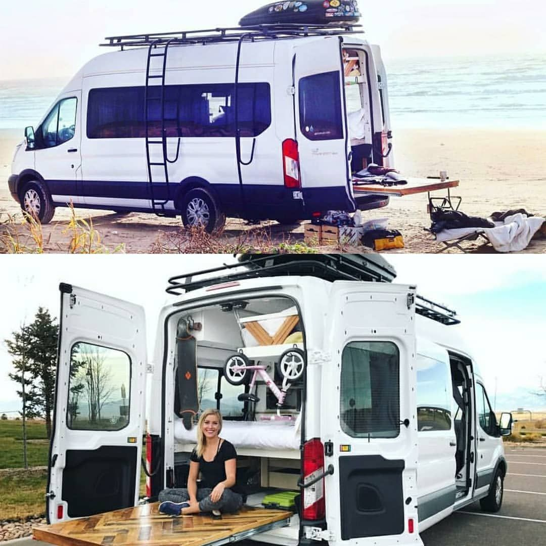 Fitetravels Ford Transit Build With Aluminess Gear Check Out The Video Tour Of Their Convers Ford Transit Camper Ford Transit Camper Conversion Ford Transit