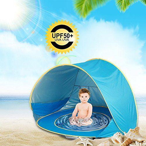 Luerme Baby Beach Tent Sun Shelter Cabana Pop Up Portable Shade Pool Uv Protection Infant Travel