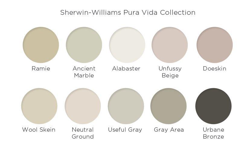 Sherwin Williams Pura Vida Collection 2016