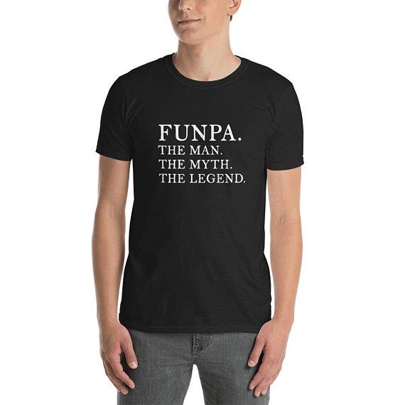 a3c5bbe1 Funny Grandpa Shirt, Funpa T-Shirt, Legend Grandpa Shirt, Grandpa Birthday T -Shirt, Fathers Day Gift, Cool Grandpa Definition Tshirt