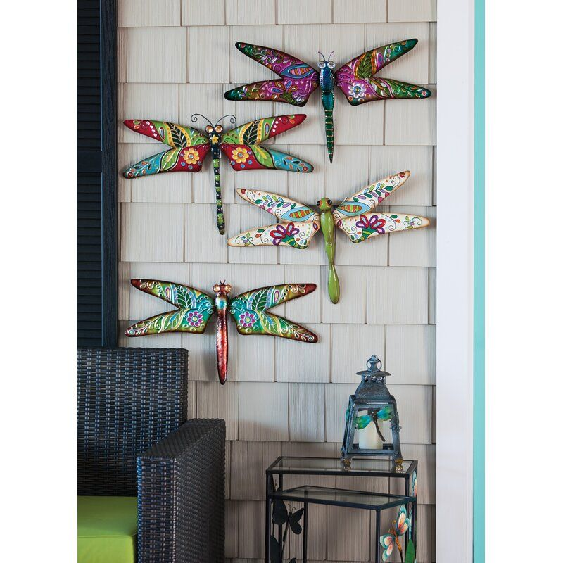 Larissa Dragonfly Outdoor Wall Art Outdoor Wall Art Dragonfly Wall Art Butterfly Wall Decor