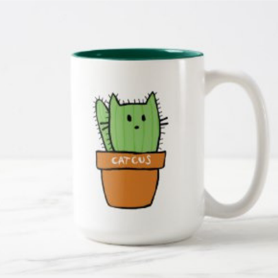 Large two-tone Cactus Mug - Pumpkin | Zazzle.com #potterypaintingideas