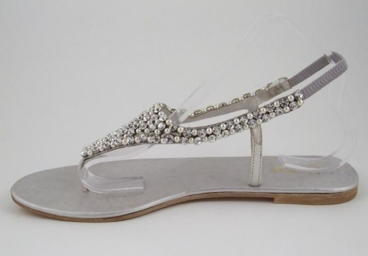 Flat Sandal Wedding Shoes For Simple And Elegant Look Fancy Flip