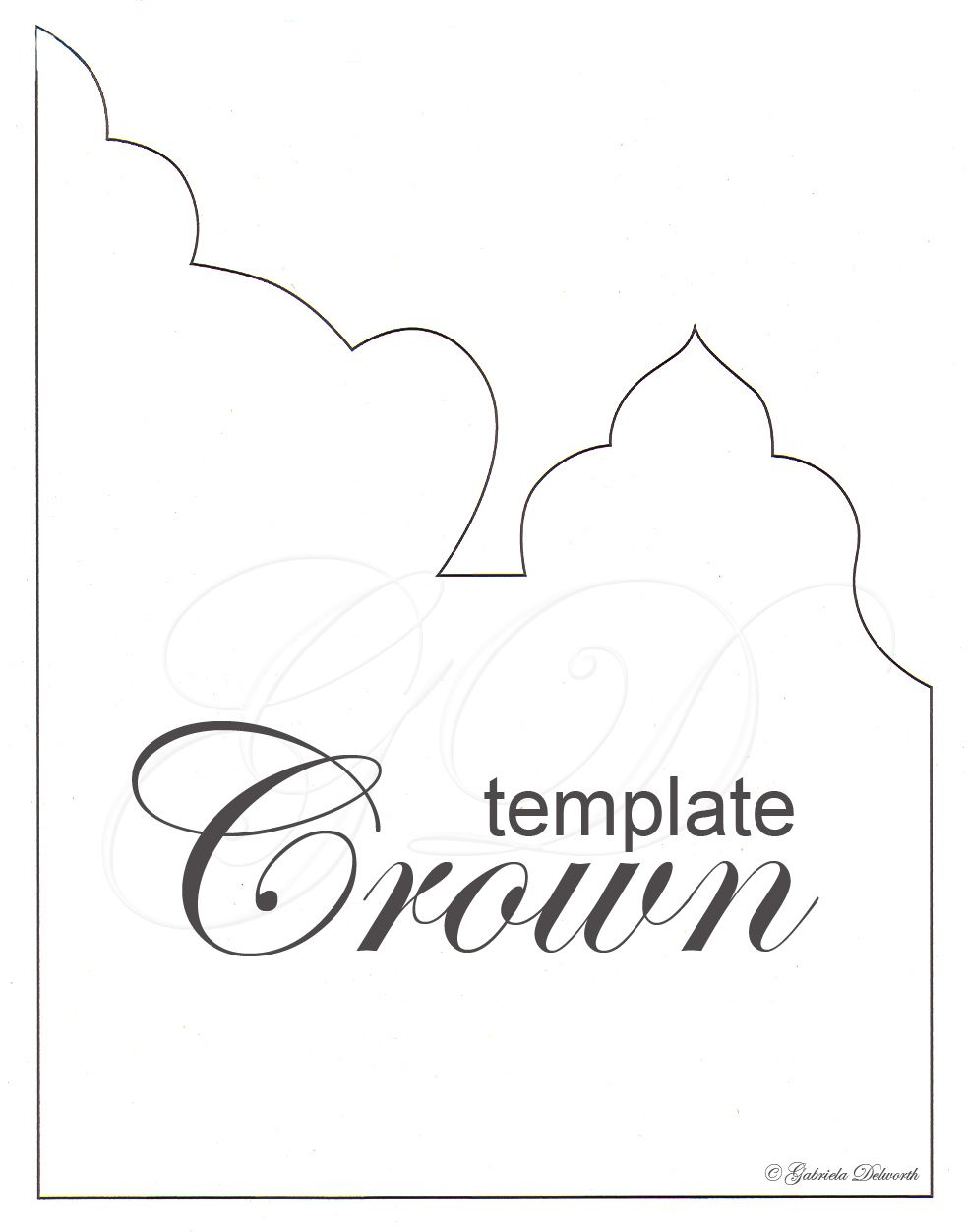 Crown Craft Template Cakepins