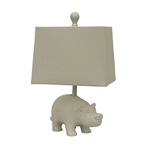 Décor Therapy TL13948 Happy Hippo Table Lamp, White Decor... Https:/