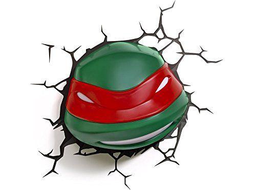 Teenage Mutant Ninja Turtles Raphael 3D Nachtlicht 3DLightFX LED ...