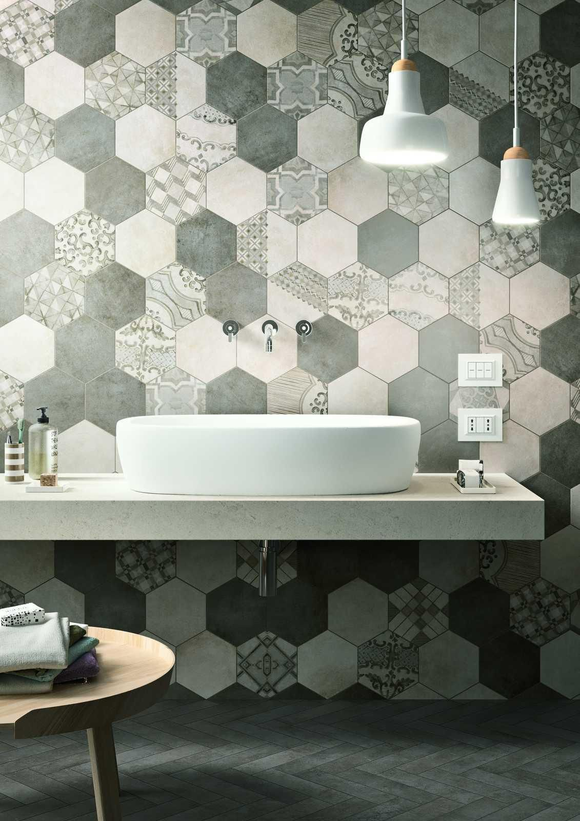 Clays - Betonoptik Cottooptik - Badezimmer | Hexagon ...