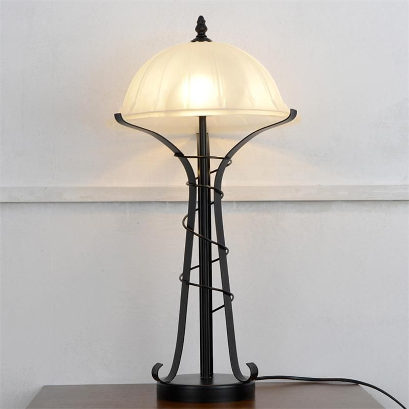 Modern Living Room Table Lamps Glass Shade Bedroom Beside Reading