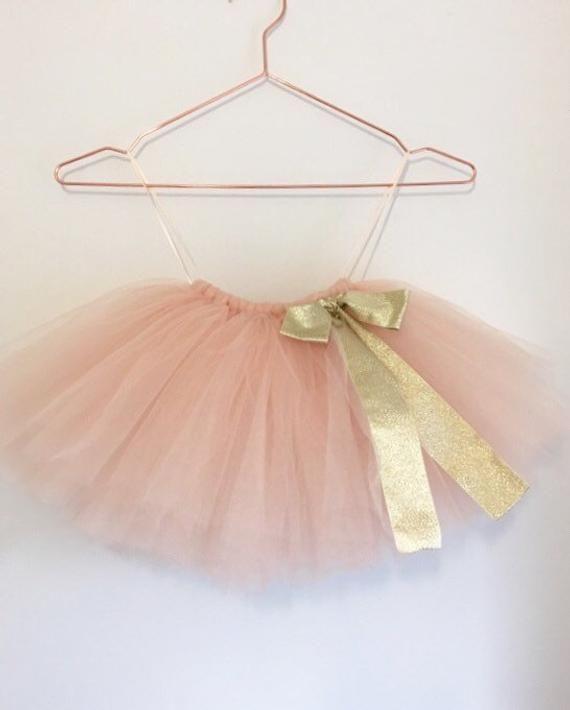 Flower Girl Nude Tulle Tutu Skirt Champagne Flower Girl | Etsy