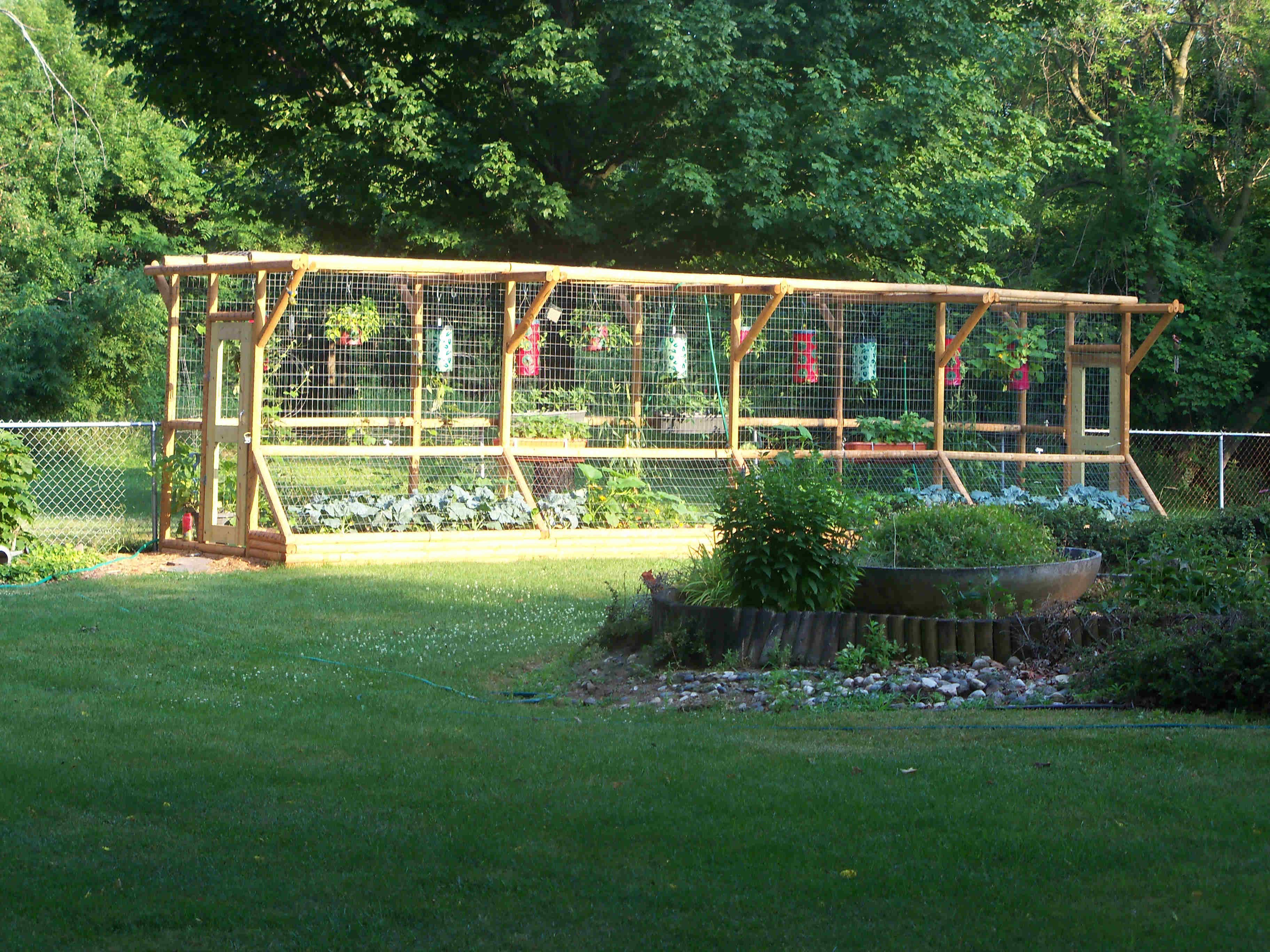 Garden Fence Ideas For Vegetable Amazing Deer Proof With Wooden Materials Frame And Wire Netting