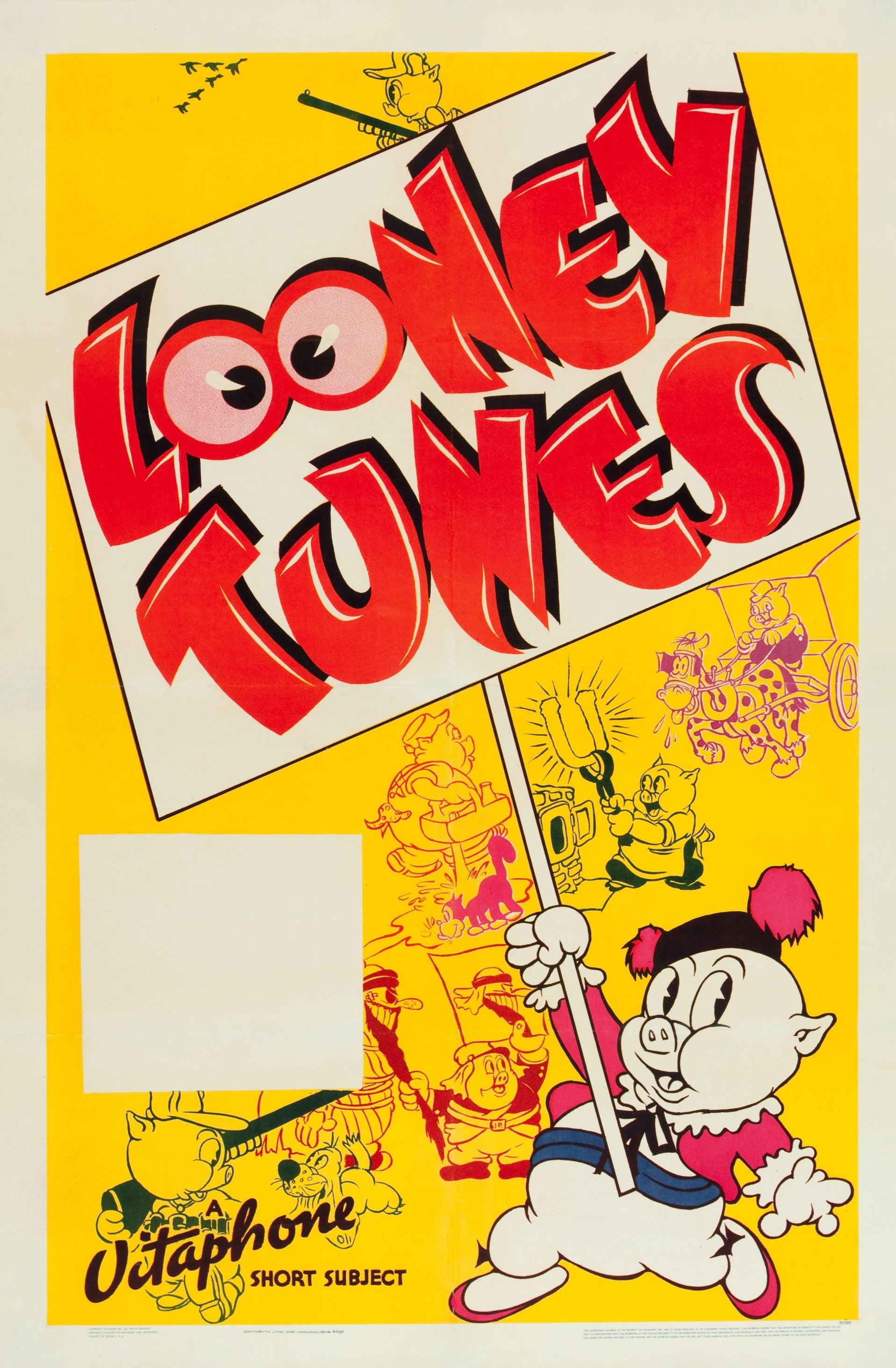 Vintage LOONEY TUNES one sheets from the 1930s and 1940s
