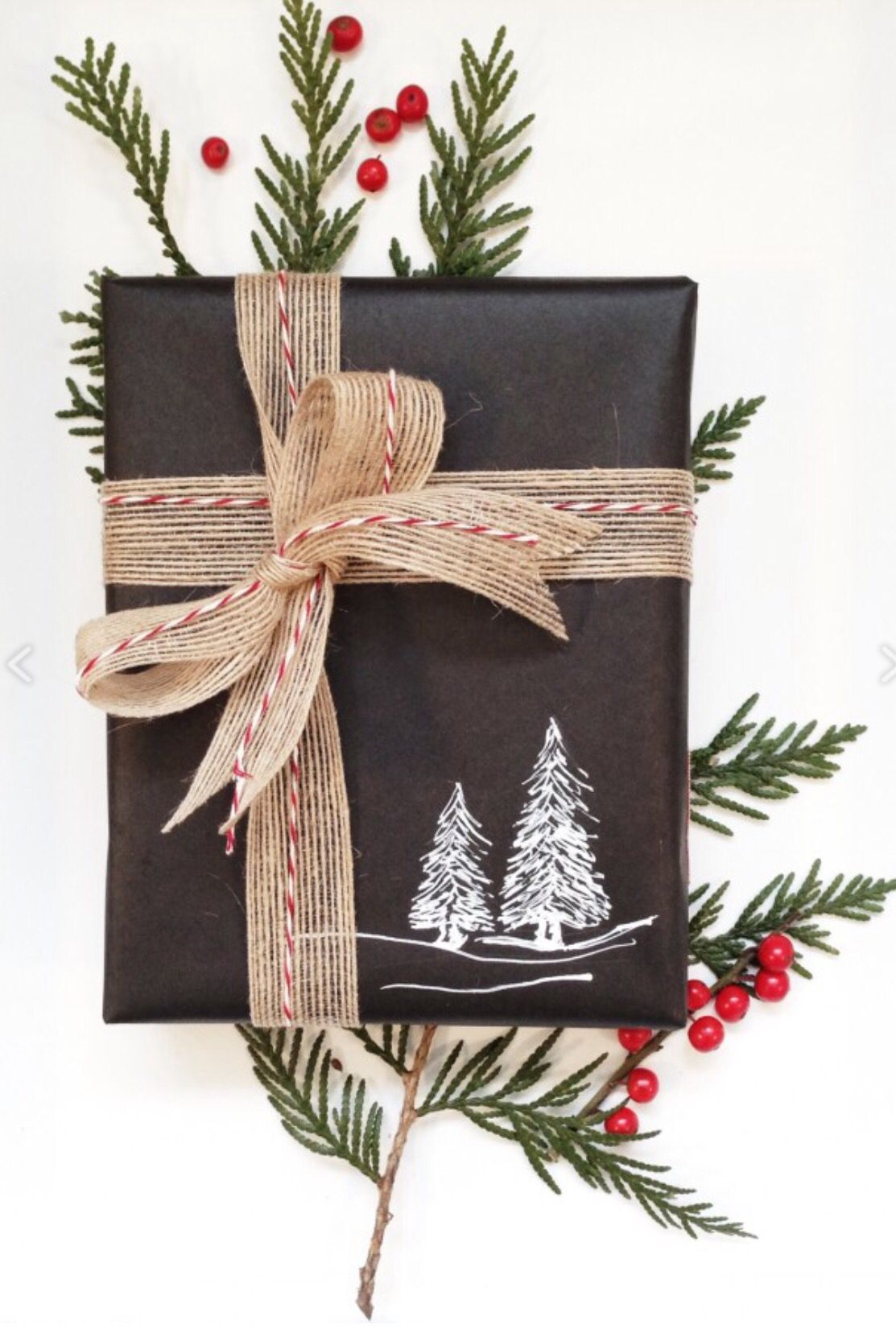 Chalkboard wrapping idea for Christmas | Christmas | Pinterest ...