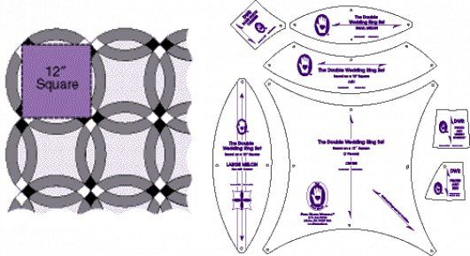 Double Wedding Ring Quilt Pattern Templates Hctohgi Quilting