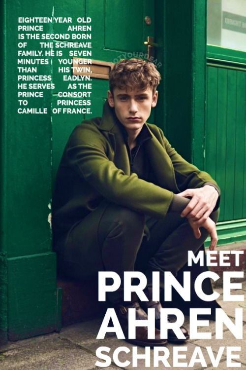 Meet Prince Ahren. Son of King Maxon and Queen America. He not only takes after his father in his personality but he has the ladies of Illéa swooning from his looks that greatly mirrors King Maxon when he was younger. Sorry to say though ladies, he's taken.