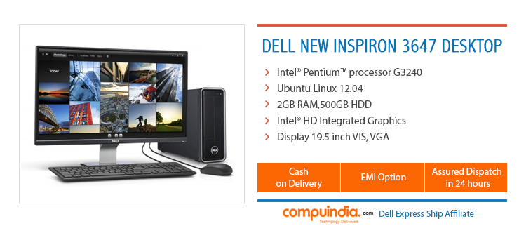 On #Compuindia the New Inspiron 3647 Desktop with powerful processor