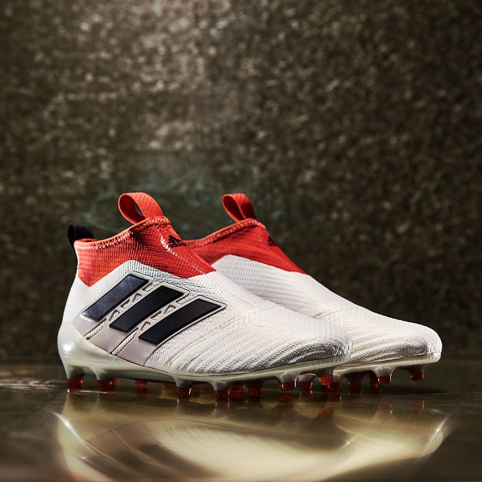 6a81a61b0 Sepatu Bola Adidas ACE 17+ Purecontrol FG Champagne Off White Core Black  Red 100%