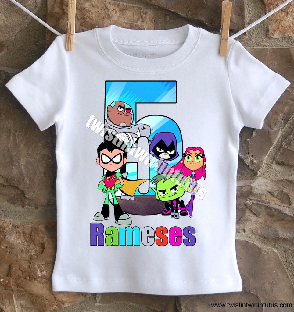 Personalized Teen Titans Shirt