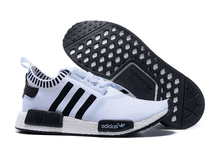 2016 Adidas Originals NMD Runner Primeknit Men Running Shoes white black