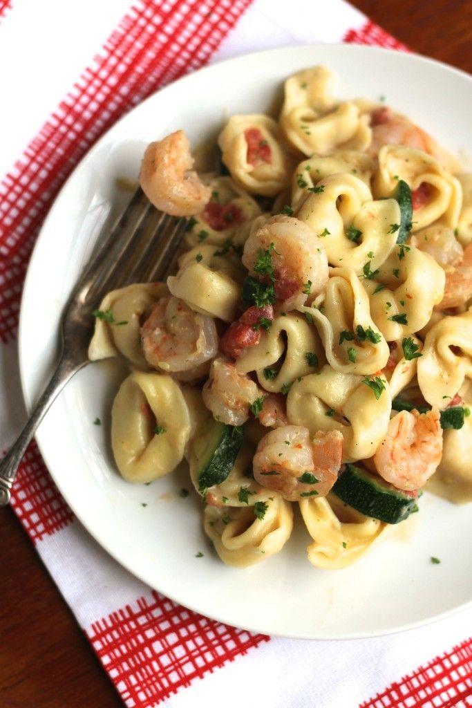 30-Minute Tortellini & Shrimp via Brittany's Pantry