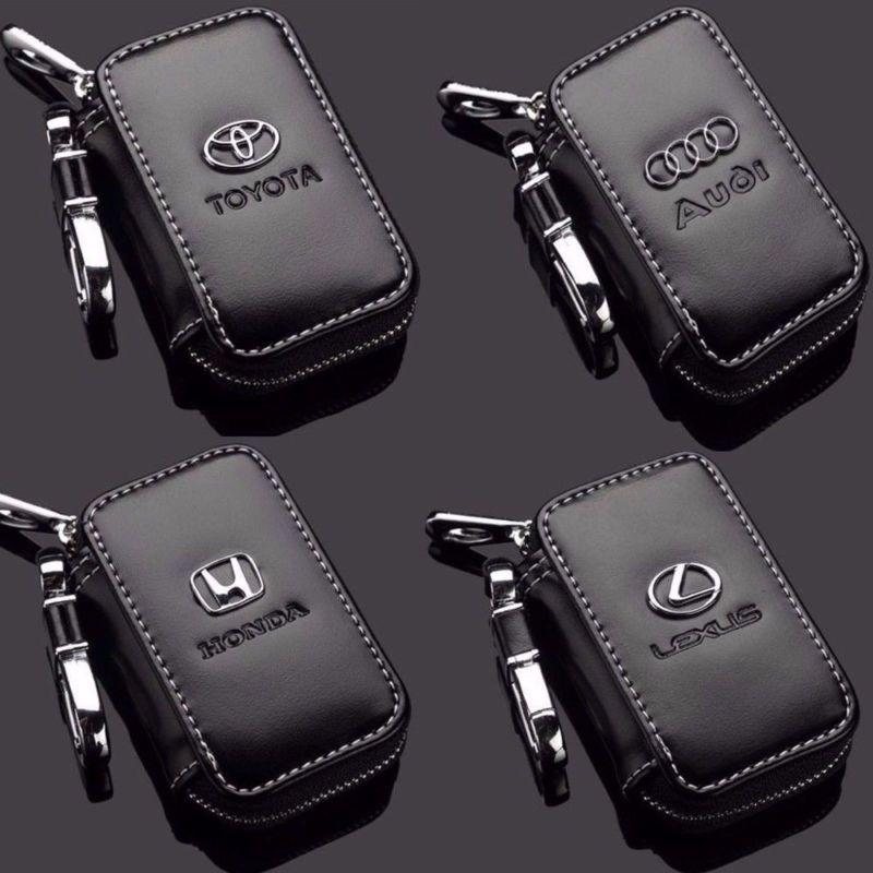 Leather Luxury Car Key Holder Chain Bag Unisex Keychain Ring Case