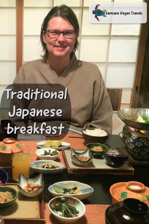 A traditional japanese vegan breakfast japanese