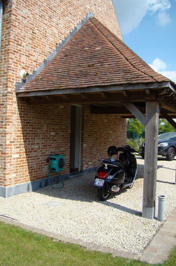 Modern Carport Garage: Eikenhouten Bijgebouwen - Carport