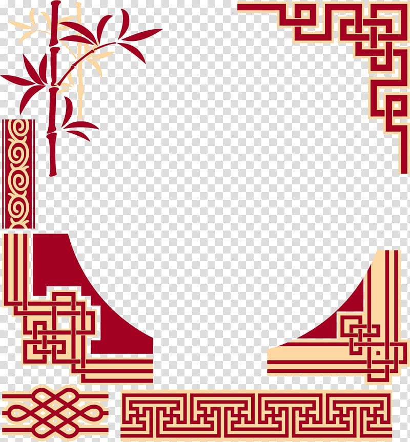 China Chinese Cuisine Frame Chinese Patterns Chinese Style Design Heart Graphics