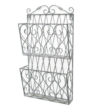 Look what I found on #zulily! Silver Metal Double-Rack Wall Storage #zulilyfinds