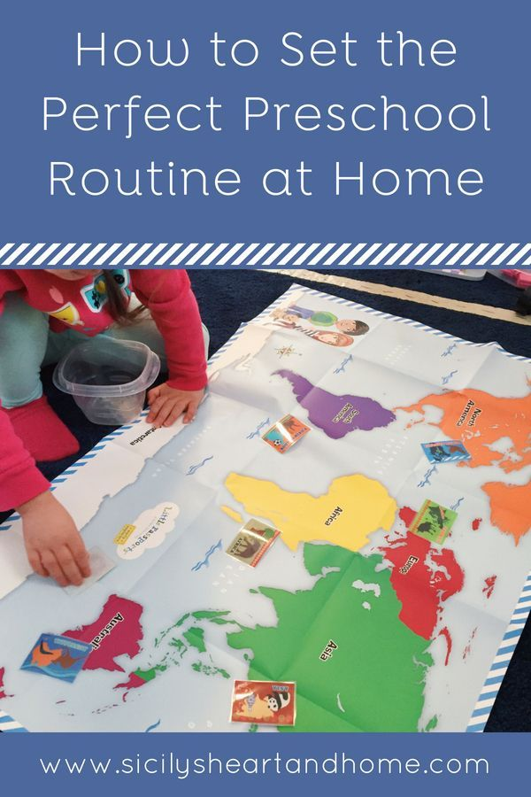 Use my method of creating a preschool routine at home that ...