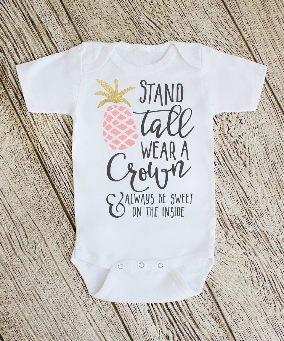 Take a look at this White 'Stand Tall Wear a Crown ...