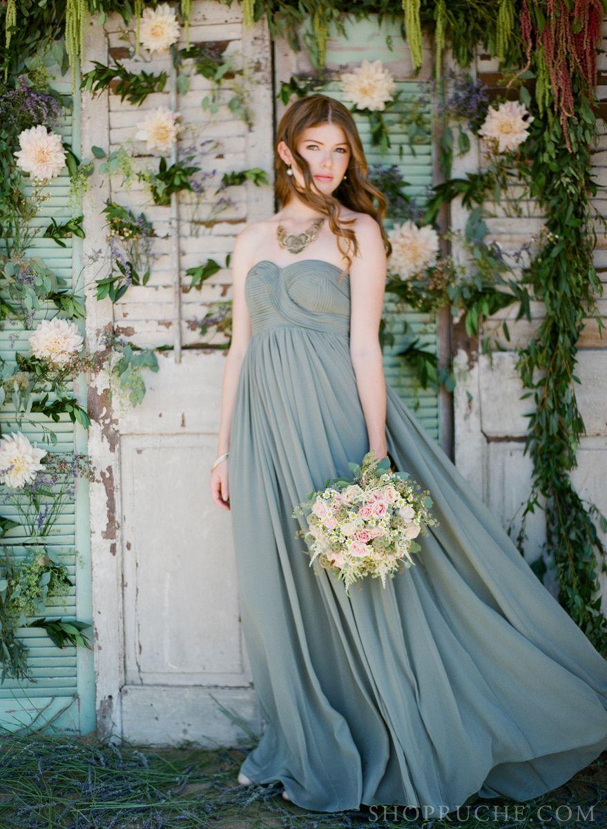 Lace & Lavender: #bridesmaid maxi dress | Ruche Bridal | Pinterest ...