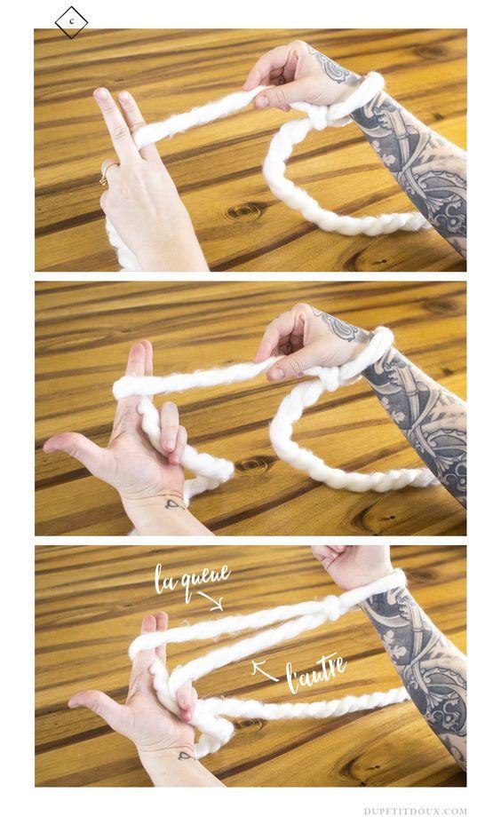 1 hour giant blanket arm knitting tutorial craft crafting artisanat tricoter. Black Bedroom Furniture Sets. Home Design Ideas