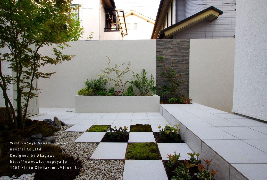 和風 洋風の坪庭 和モダン 庭 庭 モダン 庭 デザイン 和モダン