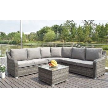 Brilliant Serena Rounded Corner Sofa Group In Grey Rattan Corner Cjindustries Chair Design For Home Cjindustriesco
