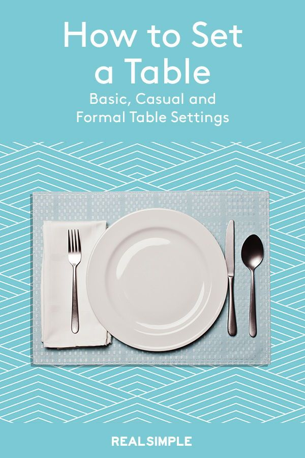 How to Set a Table: Basic, Casual, and Formal Table ...