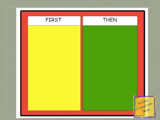 Visual Schedule Series: First-Then Schedules (Freebie!!) by Autism Classroom News at http://www.autismclassroomnews.com