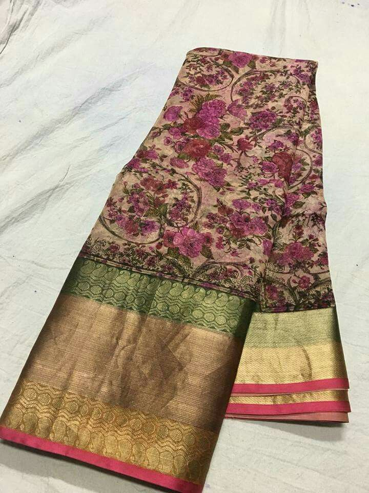 Pure organza digital print sarees Price5500 Order what's