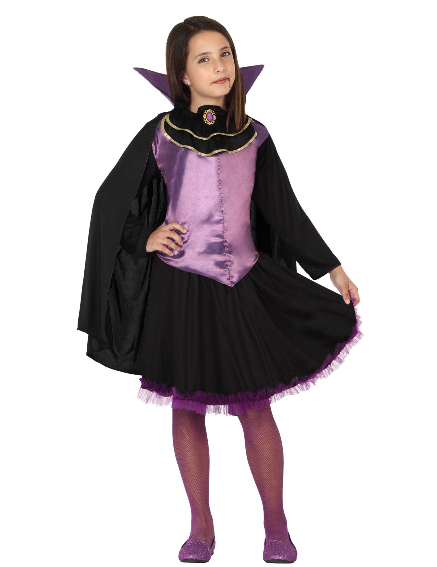 e6cfa783c2bc Disfraz vampiresa niña  Este disfraz de vampiresa para niña está formado  por una falda