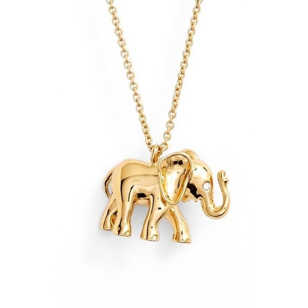 Kate spade new york elephant pendant necklace 98 liked on kate spade new york elephant pendant necklace 98 liked on polyvore featuring jewelry aloadofball Images