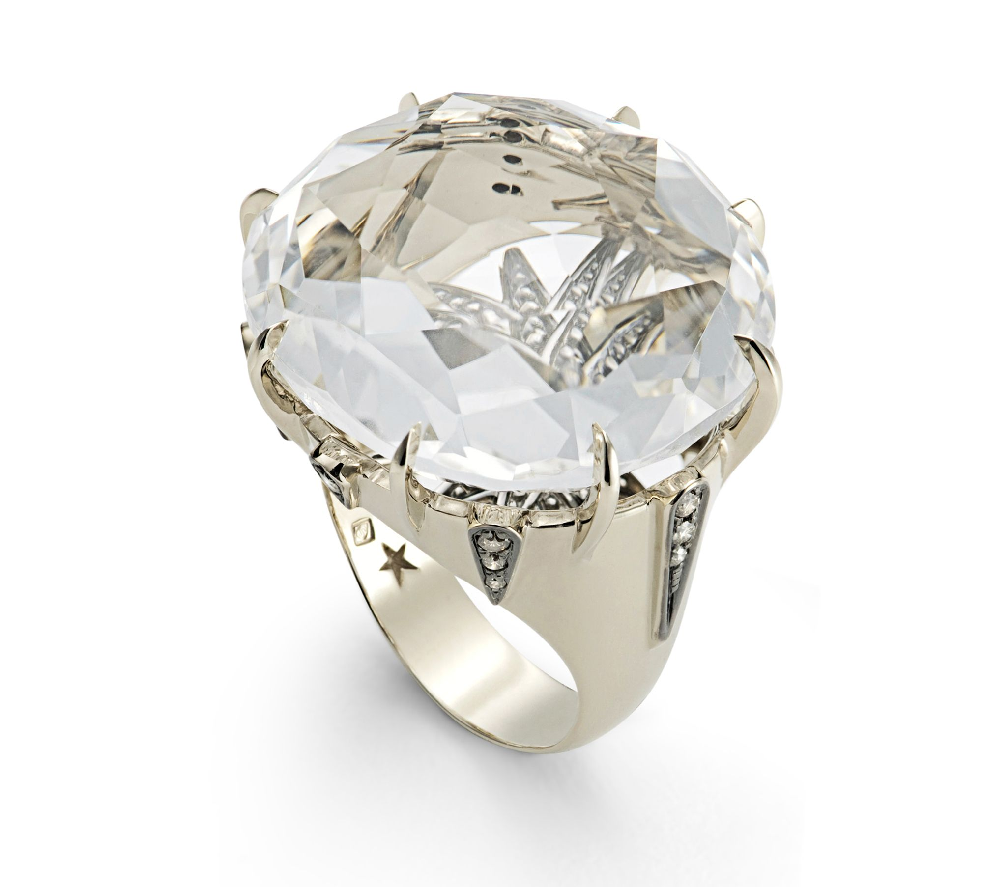 H.Stern Moonlight ring in 18K Noble Gold with cognac diamonds and ...