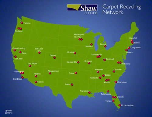 Carpet Recycling Is Possible But Currently Not Accessible For Many A Greener Carpet Industry Carpet Shaw Carpet Recycling