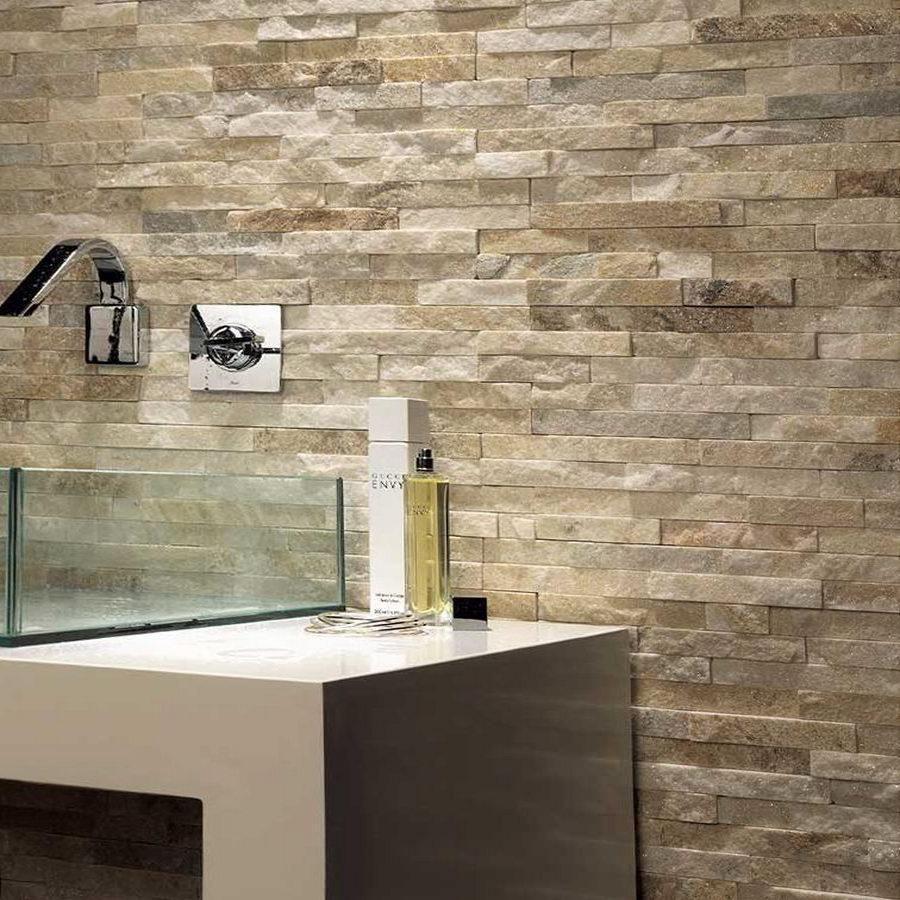 Cream Sparkle Quartz Split Face Tiles 550x150 £25.39/m2 - THIS ITEM IS OUT OF STOCK