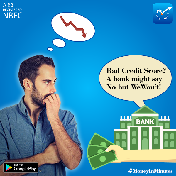 Bad Credit Score Don T Worry We Won T Say No To You You Can Apply For Bad Credit Loans From Money In Minutes Personal Loans Bad Credit Score Private Finance