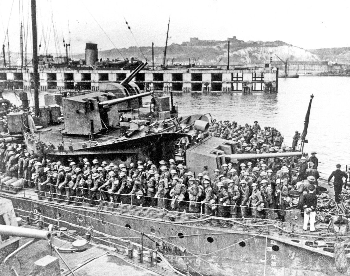 Dover Admiralty Pier Troop Movement during World War I. Dover Museum