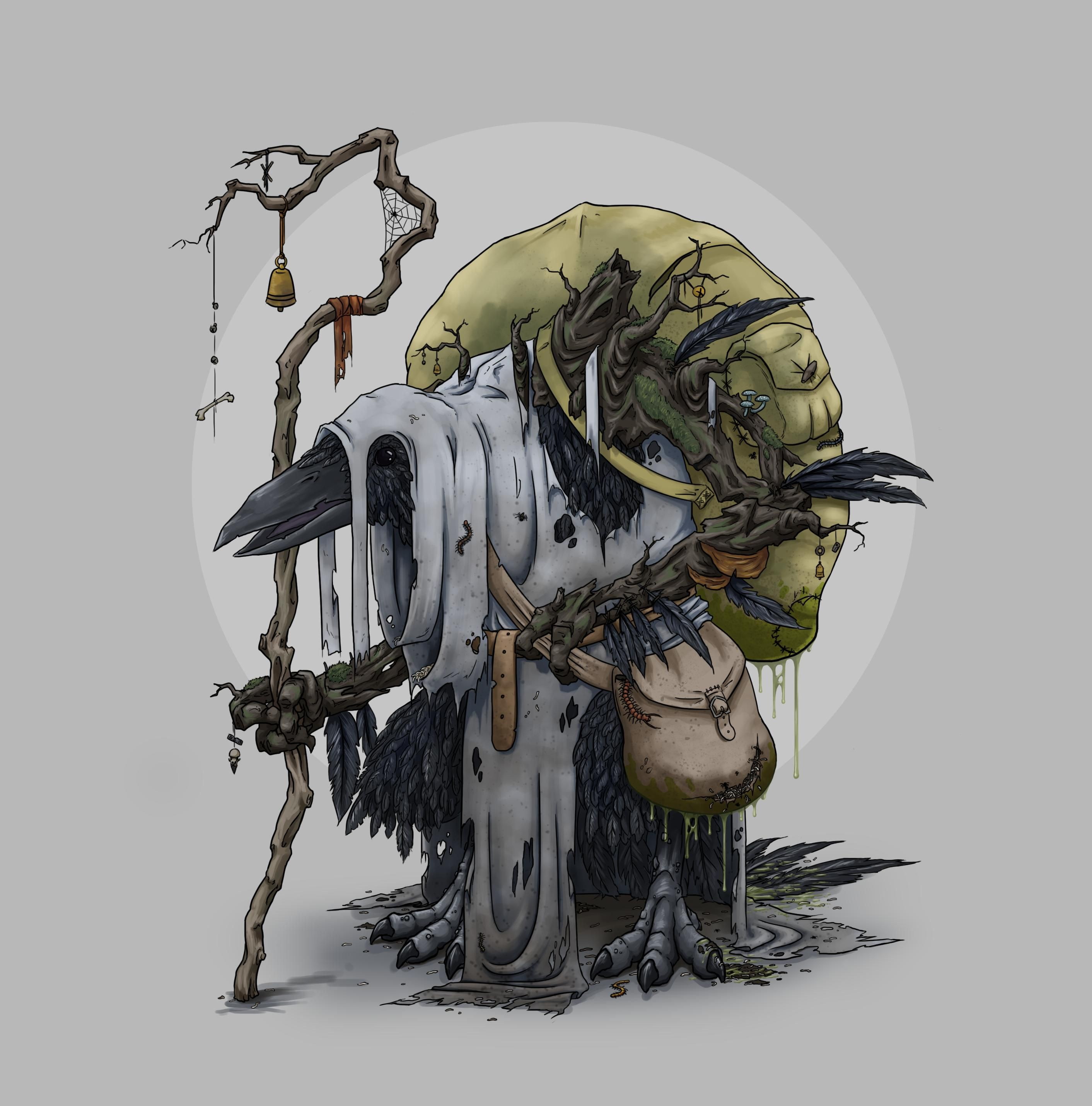 Wickerclick The Kenku Cleric In 2019 Fantasy Dungeons Dragons