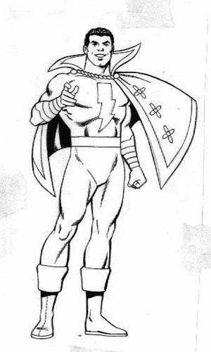 Dclicensing 07 Captmarvel Captain Marvel Shazam Shazam Comic Superhero Coloring Pages