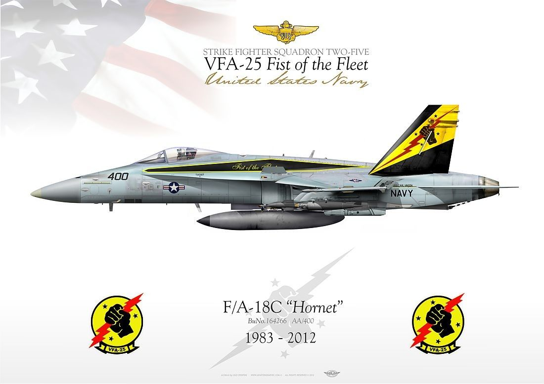 US Navy VFA-25 FIST of the FLEET Military Airplane Pictures ...