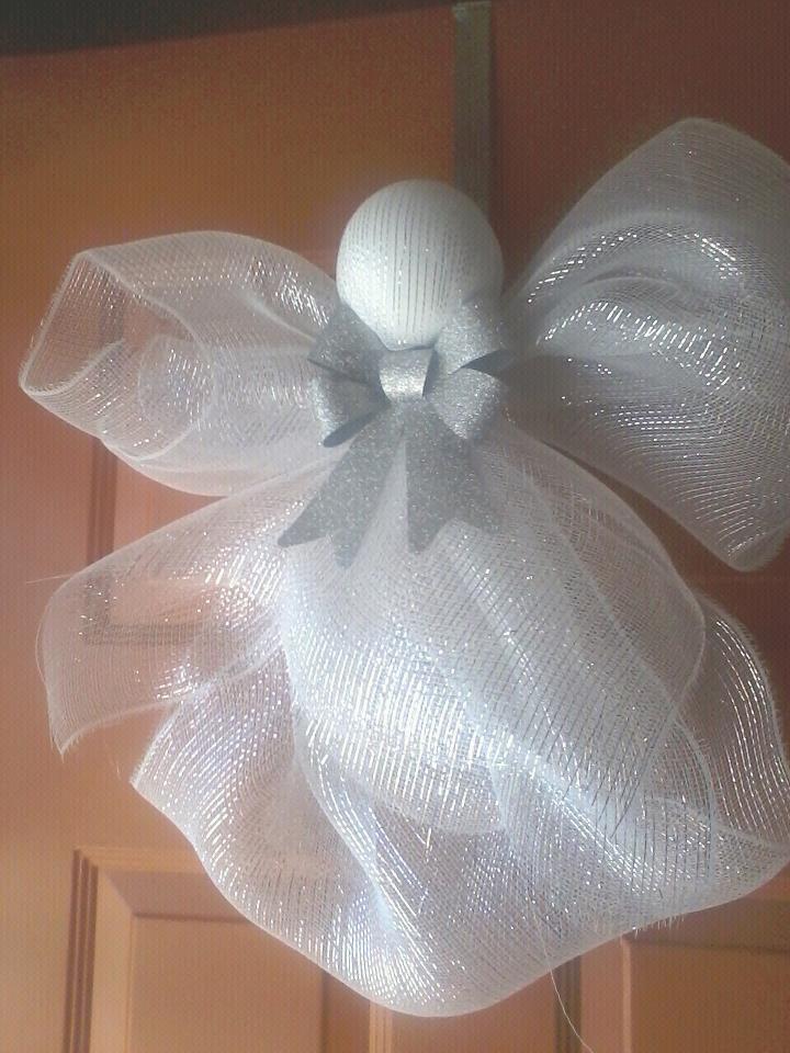 easy deco mesh angel diy angels pinterest weihnachten n hen weihnachten und deko. Black Bedroom Furniture Sets. Home Design Ideas